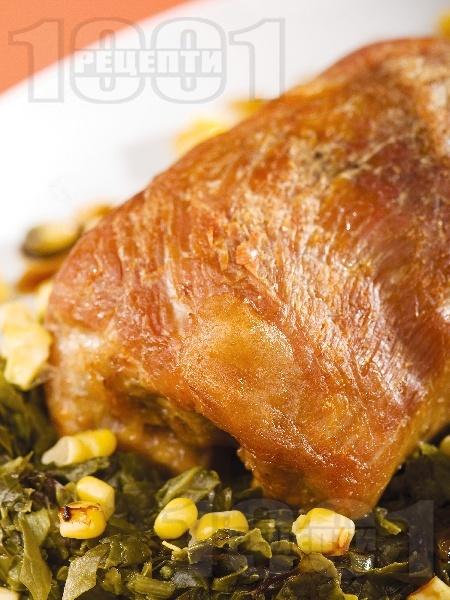 Свинско руло с чесън и хрян - снимка на рецептата